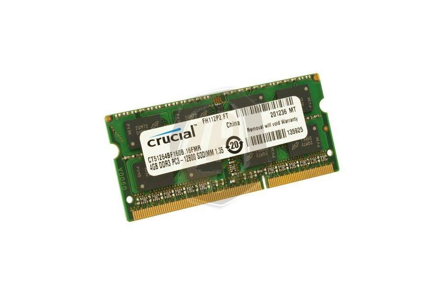 Laptop geheugen CRUG21 4 GB DDR3 1600 MHz PC3-12800 voor Acer Aspire Timeline 3820T-332G25MN en andere modellen